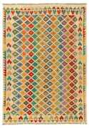 Hand Woven Turkish Kilim 6and0398 X 9and0395 Bold And Colorful Flat Weave Rug