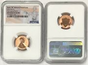 2019 W Lincoln Cent 1c Reverse Ngc Pf 69 Rd First Day Of Issue Flag R7