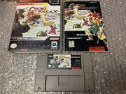 Chrono Trigger Snes 1995 W/ Manual Instruction Booklet + Case