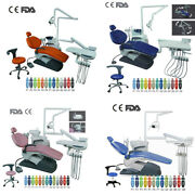 Computer Controlled Dental Unit Chair Hard Leather 4 Models With Doctor Stool