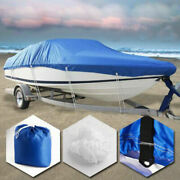 Boat Cover 20-22ft 600d Oxford Fabric Waterproof V-hull Runabouts Storage Bag