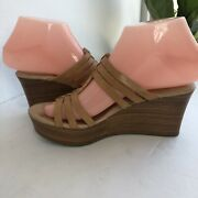 Ugg Wedges Tan Leather Shoes Size6w