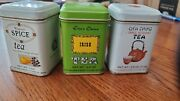 Vintage John Wagner And Sons Spice, Irish And Chinese Tin Containers