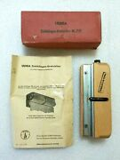 Vintage Ulmia Burnishing Block No 732 With Box And Papers - Made In Germany