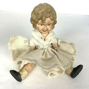 Miniature Shirley Temple Doll Movable Arms And Legs 5 Painted Bisque