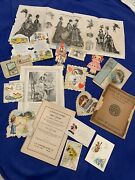 Vintage 1906 Valentineand039s - Christmas Easter Cards Plus Love Book And More 1104