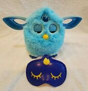 Furby Connect Teal Blue Soft Lcd Eyes Hasbro Bluetooth 2016 Tested And Works