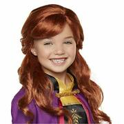 Disney Frozen 2 Anna Wig 18 Long Flowing Red Hair With Braid Detail For Girls