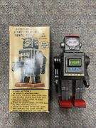 + Vintage Japan Sh Horikawa Battery Operated Secret Weapon Space Scout Tin Robot