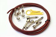 Evidence Audio Sis Solderless Patch Cable Kit 50 Plugs 50 Ft Monorail Red New
