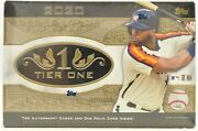 2020 Topps Tier One Baseball Sealed Box 2 Autos And 1 Relic With Free Shipping