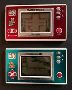 Nintendo Game And Watch Marioandrsquos Cement Factory And Donkey Kong Jr. Both Run And Play