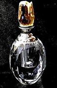 Large Crystal Perfume Bottles 8016 Faceted Lead Decorative Dauber Collectibles