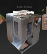 Double 3mm Blade Qsj-t Shredded Meat Cutting Machine 110v Length Of Inlet 90mm