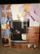 Brand New Keurig K-duo 12-cup Coffee Maker And Single Serve K-cup Brewer - Black