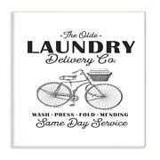 The Stupell Home Decor Collection Olde Laundry Delivery Co Vintage Bike Oversize