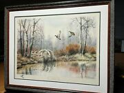 Herb Booth Mill Pond Mallards Artist Proof Lithograph 1971 New Frame