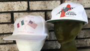 2- Westover Afb Air Show Hats Caps 1992 Italy And Usa And 1994 Great New England