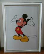 Sowa And Reiser Published Mickey Mouse Animation Cel Sheet Lithograph Disney