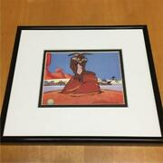 Looney Tunes Animation Cel Sheet Art Wile E. Coyote And Road Runner W/ Background