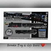 Rail King Classic Train With Light And Sounds 14 Tracks 1 Locomotive 1 Boxcar