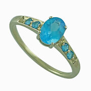 Neon Apatite 925 Sterling Silver Yellow Colour Ring Gemstone Jewelry