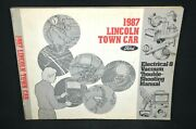 1987 Lincoln Town Car Electrical And Vacuum Trouble Shooting Manual Oem Excellent