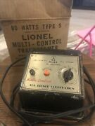 Vintage Lionel Type S 80 Watt Multicontrol Transformer Whistle And Reverse