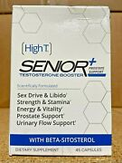 Hightandtrade High T Senior+ Test Booster + Prostate Support 45 Capsules - 06/2021