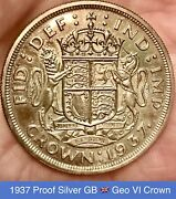 1937 King George Vi Proof Stackand039s Specimen Set 15 Coins Leather 1 Owner Toned