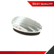 Suit Ford Aluminum Finned Tear Drop Air Cleaner Filter Dual Carb Polished