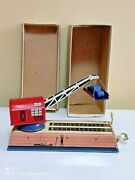 Vintage Crain Cargo Car City Tin Toy 1960and039s Wind Up Cccp Soviet Russia Box + Key