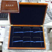 Solid Wood Display Box For 6 Certified Coin Holder Case Slab Pcgs Or Ngc ☆ @