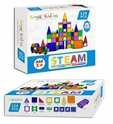 - 124 Pcs With 2 Cars - Magnetic Building Blocks Toys For Kids - Magnetic