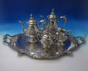 Sir Christopher By Wallace Silverplate Tea Set 5pc 5138