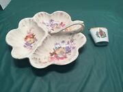 Antique Porcelain Serving Plate And Toothpicks Bowl Germany
