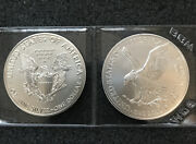 Get Both 2021 American Silver Eagles Type 1 And 2 Bu 2 Troy Oz. Excellent