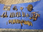 Lot Dale + Watchmakers 8 Mm Specialty Collets Wax Chucks Step + Extras