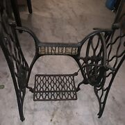 Singer Treadle Sewing Machine Cast Iron Table Base And Legs Only Free Shipping