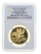 Pf70ucam 2014 Niue 200 Dollars Gold Coin Minnie Mouse Disney Character Ngc 3692