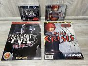 Resident Evil 3 Nemesis Dino Crisis Complete Reg Card Demo Playstation Ps1 Guide
