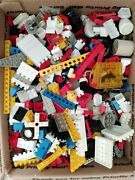Lego 5 Pounds Bricks Assorted Pieces Wheels Kit Parts Priority Mail Box Full