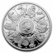 2021 1oz Great Britain Queen's Beasts Completer .999 Silver Proof Coin