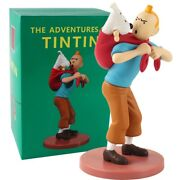 Tintin Snowy Collectible Model Toy Statues Office Home Decoration 18cm