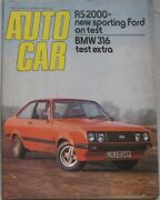 Autocar Magazine 17 January 1976 Featuring Ford Escort Rs Road Test