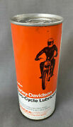 Vintage Harley Davidson Pint Two Cycle Lubricant Tin--full/unopened--graphic