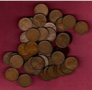 1909 Vdb Lincoln Wheat Cent Roll 50 Problem Free Vf-xf Coins