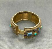 Antique A Rare Smal Bracelet Made Of Silver In Gilding Hand Made Decorative Used