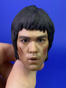 Hot Toys 1/6 Scale Dx04 Bruce Lee Enter The Dragon Battle Damaged Head Only