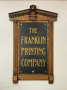 Antique The Franklin Printing Company Sign